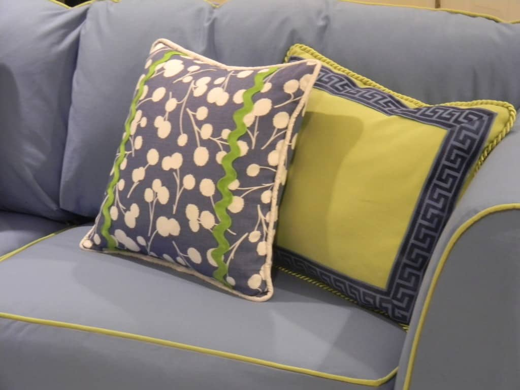 Badgers Island Sewing Grey Couch Accent Pillows