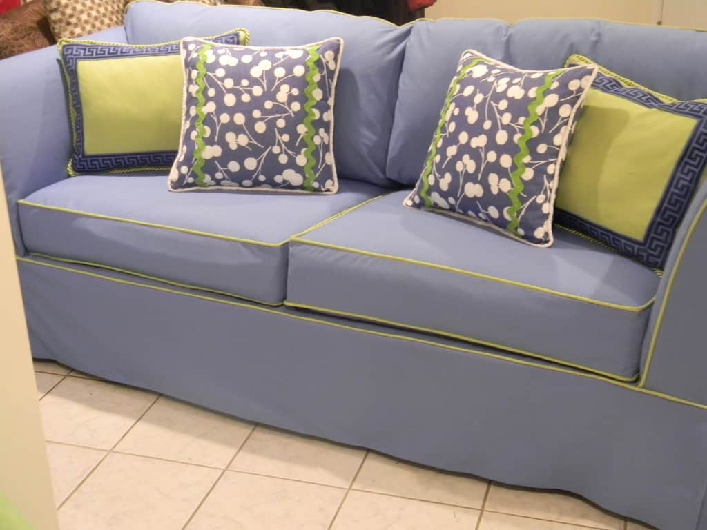 Badgers Island Sewing Grey Couch Accents