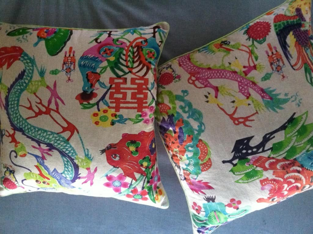 Badgers Island Sewing Colorful Accent Pillows